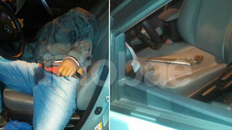 Así terminó el joven asesinado dentro del auto