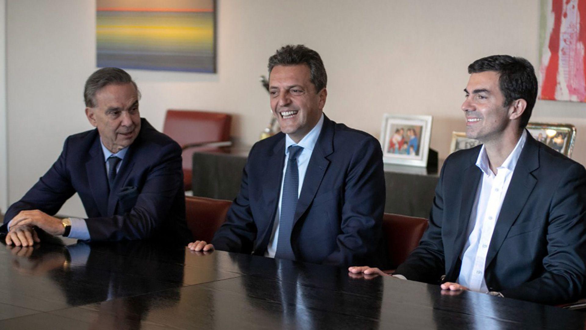 Miguel Angel Pichetto, Sergio Massa y Juan Manuel Urtubey, cuando aún compartían Alternativa Federal