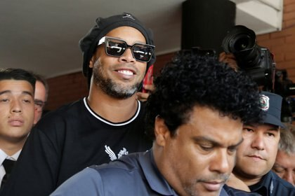 Ronaldinho, tras ser liberado (Reuters)