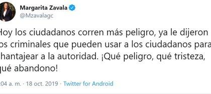 Twitts liberación Ovideo (Foto: Twitter)