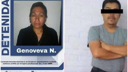 Genoveva mató a Carlos por presuntamente dejarla después de tres años de relación, nunca dejó a su esposa Foto: Fiscalía Puebla y Facebook