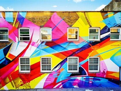 La obra de MadC (Claudia Walde) en las calles de Schoreditch (Instagram: @Mad_C1)