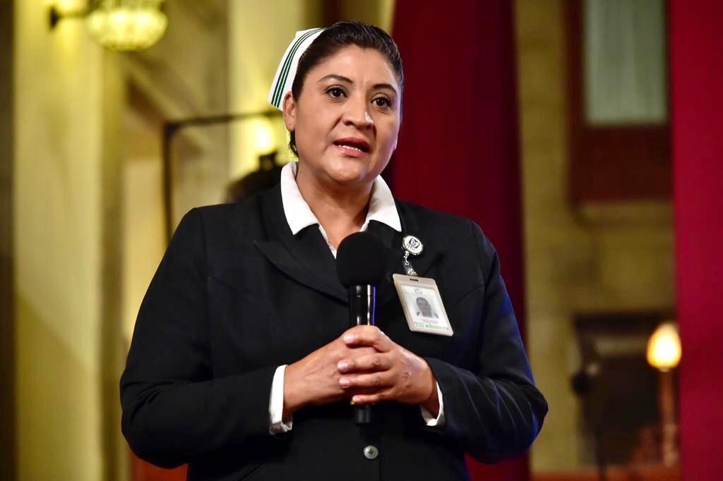 Fabiana Maribel Zepeda, jefa de la División de Programas de Enfermería del IMSS, condenó todos los ataques en contra del personal médico en el país (Foto: Cortesía)