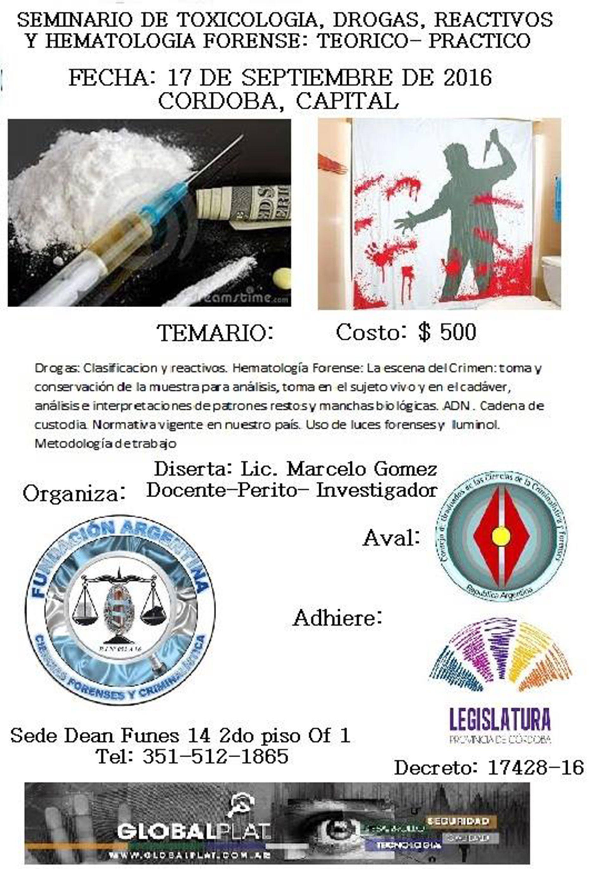 El afiche de los cursos falsos que dictaban Fernández y Murúa Torres-