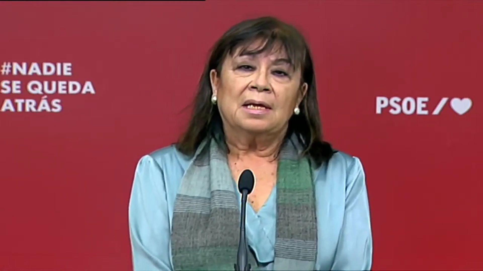 20/02/2021 Declaraciones de la presidenta del PSOE, Cristina Narbona POLITICA  CAPTURA YOUTUBE