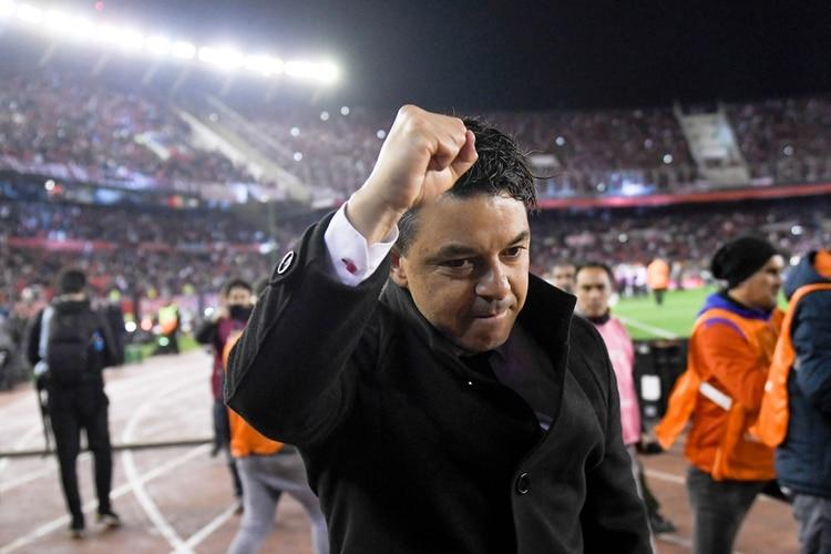 Marcelo Gallardo estaría en la mira de Barcelona para reemplazar a Ernesto Valverde en caso de ser despedido (AP Photo/Gustavo Garello)