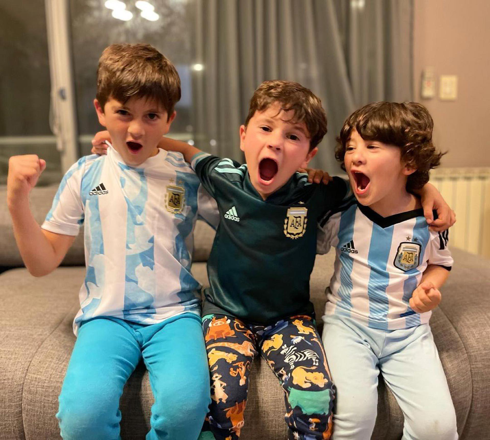 Festejo hijos de Messi