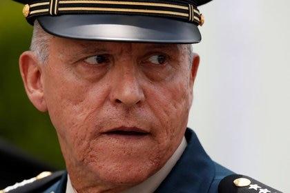 El ex secretario de Defensa de México Salvador Cienfuegos, captado durante el 50 Aniversario del Plan de Desastres DN-III de asistencia a la población (REUTERS/Carlos Jasso)