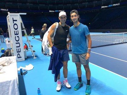 Thiago Tirante cumplió un sueño: entrenó junto a su ídolo Rafael Nadal (@ThiagoTirante)