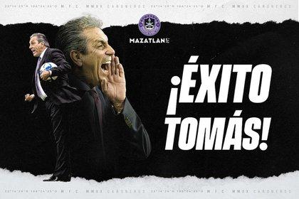 Tomás Boy fuera de Mazatlán FC tras una temporada con el equipo (Foto: mazatlanfc.com)