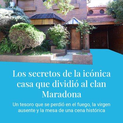 Así fue la mudanza en la ex casa de los padres de Maradona