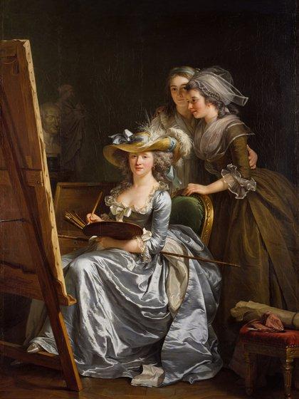 """Autorretrato con dos alumnas"" (1785) de Adélaïde Labille-Guiard"