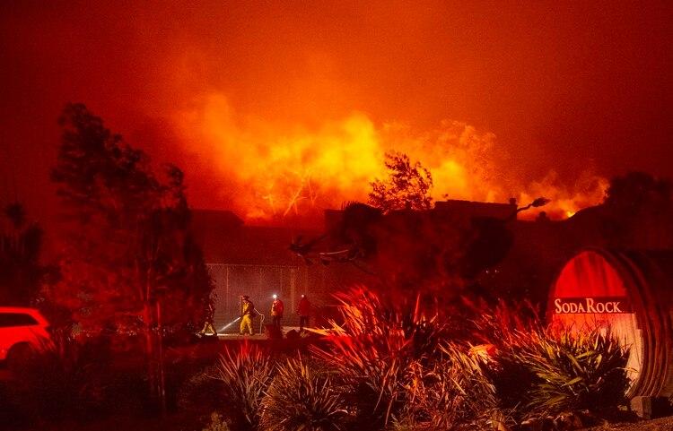 Imagen de los incendios en California (AFP)