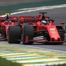 Formula One F1 - Brazilian Grand Prix - Practice - Jose Carlos Pace Circuit, Sao Paulo, Brazil - November 16, 2019 Ferrari's Charles Leclerc and Sebastian Vettel in action during practice REUTERS/Ricardo Moraes