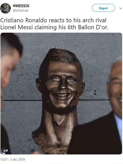 Cristiano Ronaldo reacciona contra su rival clamando por su sexto Balón de Oro