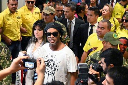 Ronaldinho en Paraguay (Foto: AFP)