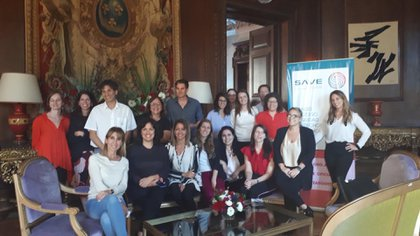 Con sus compañeros de la Sociedad Argentina de Vacunología y Epidemiología.
