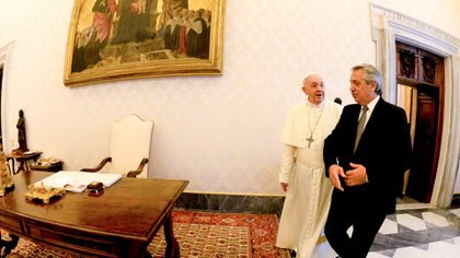 El presidente Alberto Fernández quiere seguir en contacto permanente con el Papa Francisco (Presidencia)