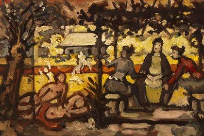 """Horacio Butler. """"Primavera en el delta"""", ca.1980. Óleo sobre tela. 22 x 34 cm. (Museo Sívori)"""