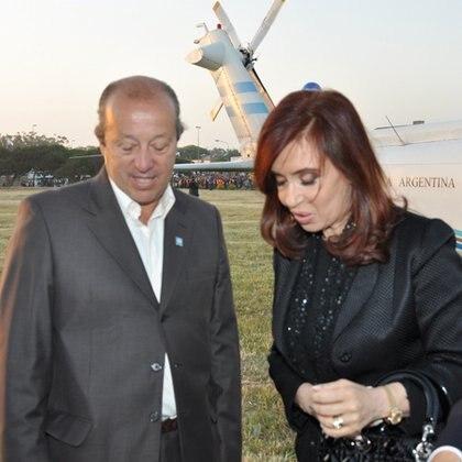 Junto a Cristina Kirchner, el 15 de diciembre de 2010
