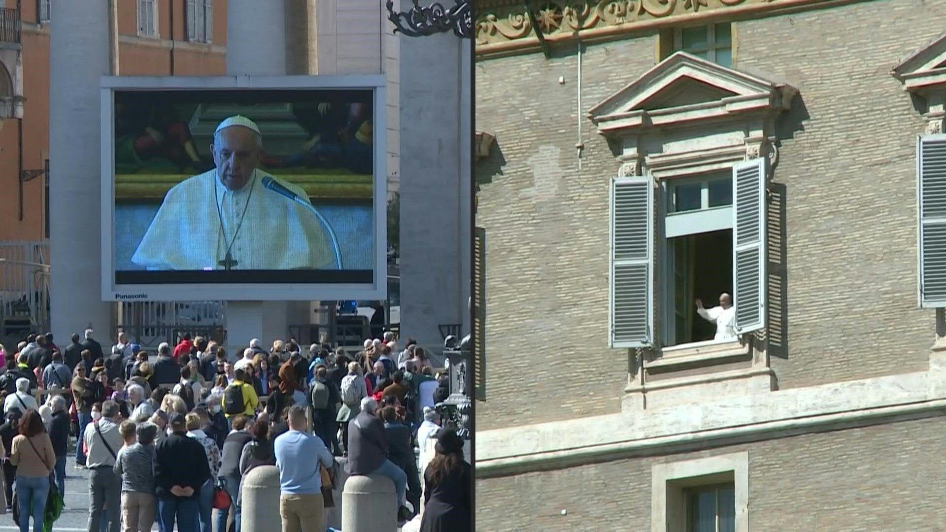 """El papa expresa su """"cercanía"""" con enfermos de coronavirus en un mensaje por streaming"""