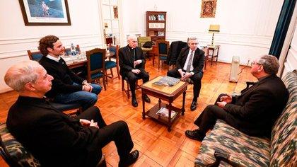El encuentro de Alberto Fernández con la Conferencia Episcopal Argentina