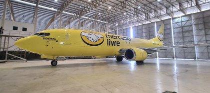 Una de las naves en un hangar del aeropuerto de San Pablo
