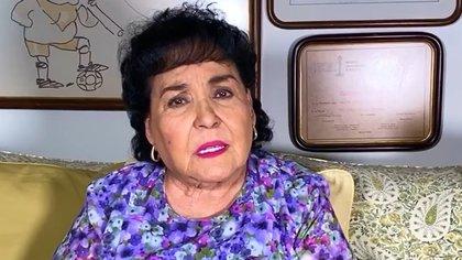Carmen Salinas mostró su molestia contra la gente que no cree en el COVID-19 (IG: carmensalinas_56)