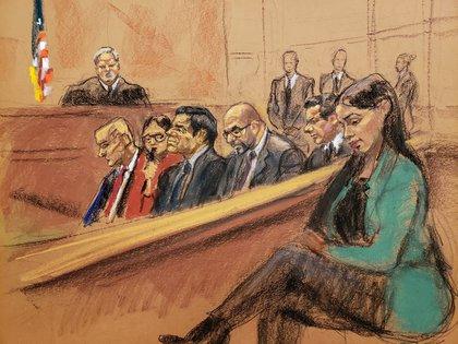 """Emma Coronel fue parte del llamado """"juicio del siglo"""" y desde entonces ganó notoriedad pública (Foto: Reuters)"""