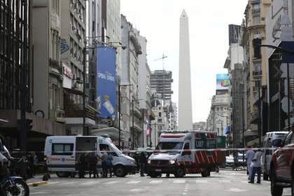 El edificio afectado está ubicado a metros del Obelisco (Manuel Cortina)