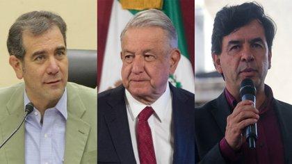 Jesús Ramírez Cuevas, Lorenzo Córdova et AMLO (Photo: Cuartoscuro)