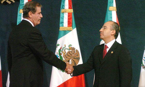 Vicente Fox y Felipe Calderón (Foto: EFE)