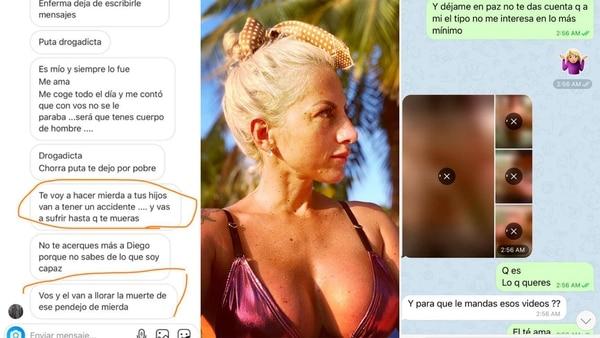 Los supuestos mensajes que Tatiana le envió a Gabriela, con amenazas varias.