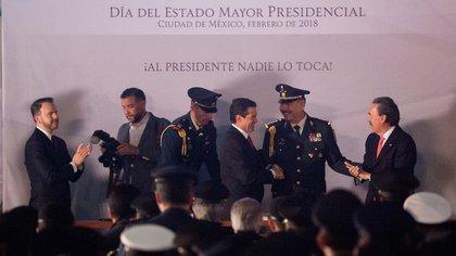 El ex presidente Enrique Peña Nieto durante un evento del Estado Mayor Presidencial (Foto: Cuartoscuro)