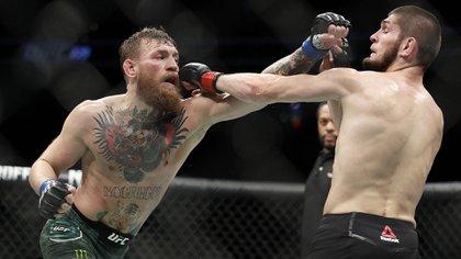 La pelea entre Conor McGregor y Khabib Nurmagomedov fue uno de los puntos más altos en la UFC (AP)