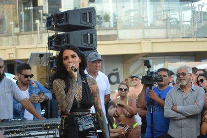 La hija de Marcelo Tinelli le puso música a Mar del Plata