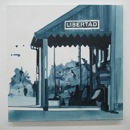 PL0109. Patricio Larrambebere. Libertad (FCMdBA), 2019. Acrílico sobre tela. 60 x 60 cm