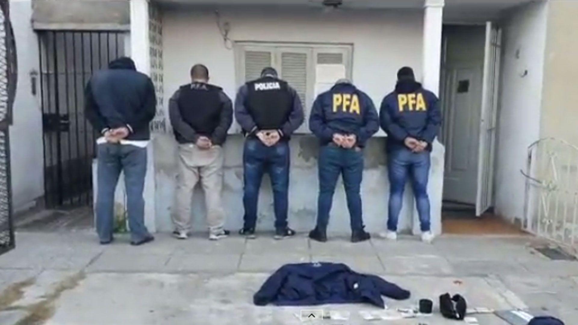 Los cinco falsos policías detenidos en Avellaneda