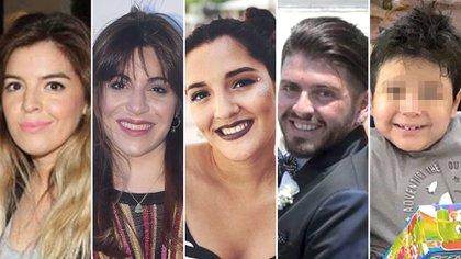 Dalma, Gianinna, Diego Junior, Jana y Dieguito Fernando Maradona