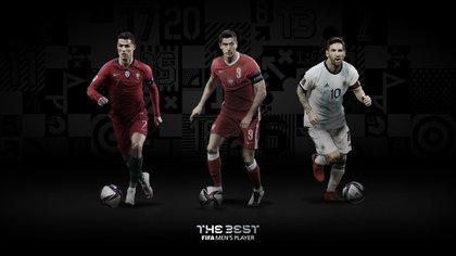 Cristiano Ronaldo, Robert Lewandowski y Lionel Messi son los tres nominados al premio The Best a mejor jugador de fútbol de la temporada (Europa Press)