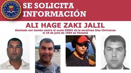 El FBI pide información de Ali Hage Zaki Jalil, un ciudadano de origen libanés, con ciudadanía venezolana.