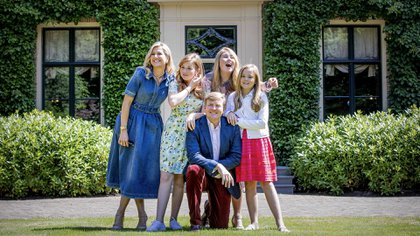 La familia real de Holanda. Foto: AFP