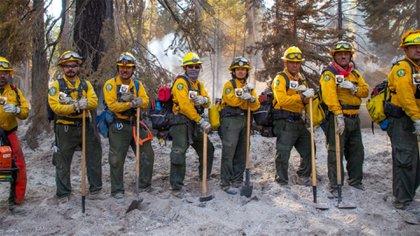 101 combatientes mexicanos colaboran en Estados Unidos para apagar incendios forestales (Foto: Comisión Nacional Forestal)