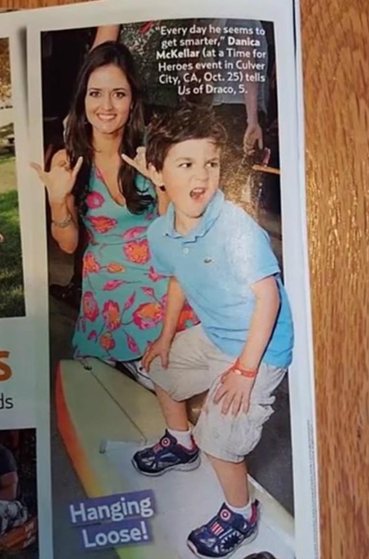 Una imagen publicada en US Magazine llamó la atención por el parecido entre el hijo de Danica y Fred Savage