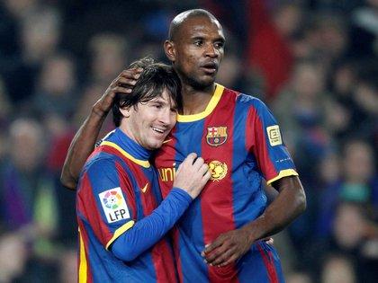 Messi y Abidal compartieron cancha en Barcelona - REUTERS/Gustau Nacarino/File Photo