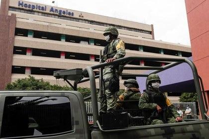 Lozoya se presentó de forma remota desde el hospital donde se encuentra internado, bajo fuerte presencia de elementos de seguridad (Foto: Henry Romero/ Reuters)