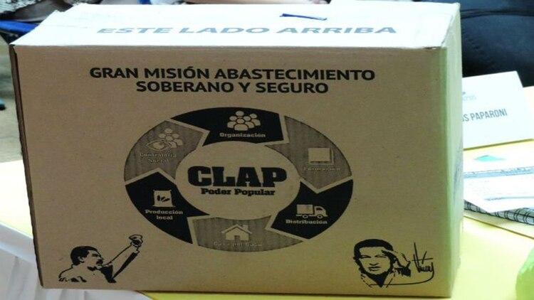 Las cajas Clap ahora vienen con leyendas alusivas al ELN.