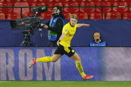 Erling Haaland, la gran figura del Borussia Dortmund (REUTERS/Marcelo Del Pozo)