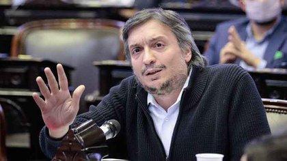 Maximo Kirchner, jefe del bloque de diputados del Frente de Todos y líder de La Cámpora