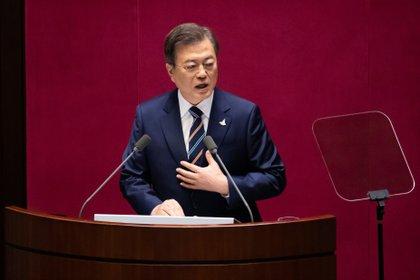 23/09/2020 El presidente de Corea del Sur, Moon Jae In.  POLÍTICA ASIA ASIA COREA DEL NORTE COREA DEL SUR ASIA INTERNATIONAL POOL / ZUMA PRESS / CONTACTOPHOTO